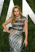 WEST HOLLYWOOD, CA - FEB 24: Teresa Palmer at the Vanity Fair Oscar Party at Sunset Tower on Februar