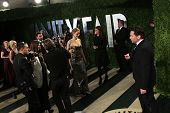 WEST HOLLYWOOD, CA - FEB 24: Jennifer Lawrence at the Vanity Fair Oscar Party at Sunset Tower on February 24, 2013 in West Hollywood, California