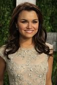 WEST HOLLYWOOD, CA - FEB 24: Samantha Barks at the Vanity Fair Oscar Party at Sunset Tower on February 24, 2013 in West Hollywood, California