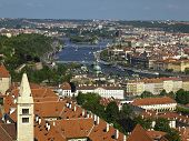 Prague In The North-east From The Bell Tower Of The Cathedral St.vitus.