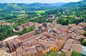 Panoramic view of Brisighella. Emilia Romagna. Italy.