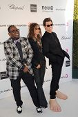 LOS ANGELES - FEB 24:  Randy Jackson, Steven Tyler, Jim Carrey arrive at the Elton John 21st Academy