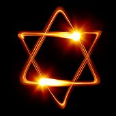 Star of David created by light