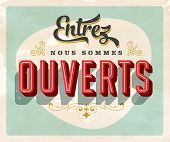 Vintage french sign -