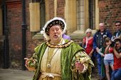 An Actor Portrays King Henry Viii