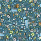 Business Finance Seamless Pattern Vector