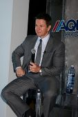 LOS ANGELES - FEB 26:  Mark Wahlberg at the Aqua Hydrate Press Conference at the Private Location on