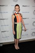 LOS ANGELES - FEB 27:  Jayma Mays arrives at the PaleyFest Icon Award 2013 at the Paley Center For M