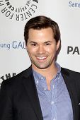 LOS ANGELES - FEB 27:  Andrew Rannells arrives at the PaleyFest Icon Award 2013 at the Paley Center