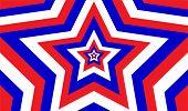Endless Patriotic Star Pattern