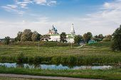 Beautiful Summer Landscape At A Pond, Vladimirskiy Area, Russia