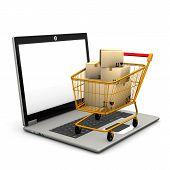 Laptop Shopping Cart