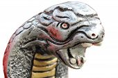 snake statue in metal