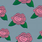 Rose Seamless Background Tile