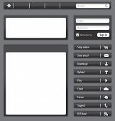 Website Dark Gray Elements And Modules