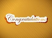 stock photo of tribute  - Congratulations lettering illustration design on a gold background - JPG