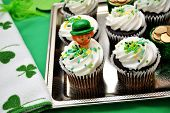 Decorated Irish Cupcakes