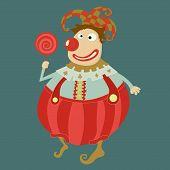 Funny Clown Vector Art-illustration