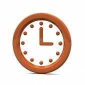 Clock icon, 3d