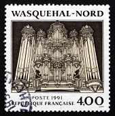 Postage Stamp France 1991 Pipe Organ, Wasquehal, Nord