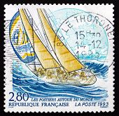 Postage Stamp France 1993 Yacht La Poste, Whitbread Trans-global
