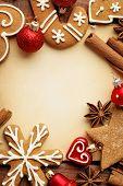 christmas frame background, border