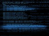 pic of byte  - Source code technology background concept in blue - JPG