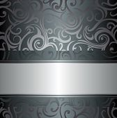 Silver luxury vintage background