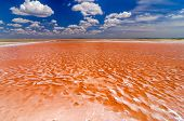image of salt mine  - Pool of salt water for salt production in La Guajira Colombia - JPG