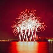 Castell De Foc Firework Display Within The Festa Major Celebrati