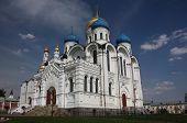 Transfiguration Cathedral. St. Nicholas Ugreshsky monastery. Russia, Moscow region
