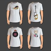 Set Of White Shirt Design
