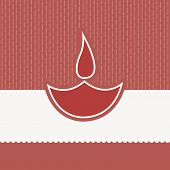 Vintage background for Indian festival of lights, Happy Diwali with illustration of oil lit lamp, can be use as poster, banner or greeting card.