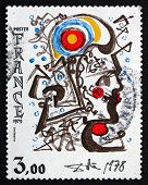 Postage Stamp France 1979 Head Of Marianne, By Salvador Dali