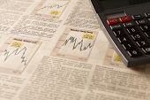 Newspaper Stock Market With Calculator