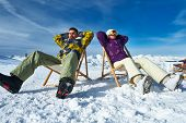 image of apr  - Couple at mountains in winter - JPG