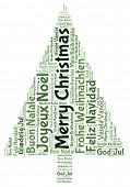 Merry christmas 2014 tree word tag cloud