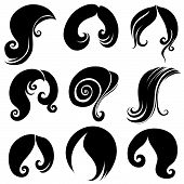 Set Of Hair Symbols