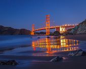 Golden Gate Bridge at night, Sun Francisco