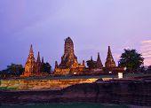 Wat Chai Wattanaram, Ayuthaya, Thailand.