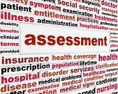 Assessment medical words concept