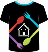 T Shirt Template- food lover