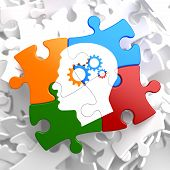 foto of cogwheel  - Psychological Concept  - JPG