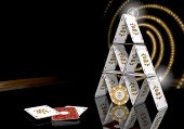 3D Graphic Of A Glaring Best Idea Icon  On The Casino Table