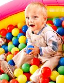 pic of little boys only  - Little boy in colored ball - JPG