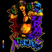 Hip Hop Girl Shirt Design