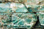 blue chert layers closeup, Oregon coast