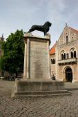 Braunschweiger Löwe And Burg Dankwarderode