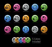 Documents Icon set / The file Includes 5 color versions in different layers.