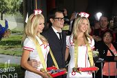 LOS ANGELES - OCT 23: Johnny Knoxville, Nurses at the Premiere of
